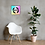 Thumbnail: Canvas Assorted Sizes - EDM J to F Square Logo Bright Tye Dye - Black