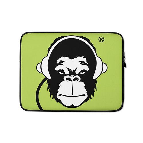 Laptop Case Zip Up - GS Music Academy Ape DJ - Green