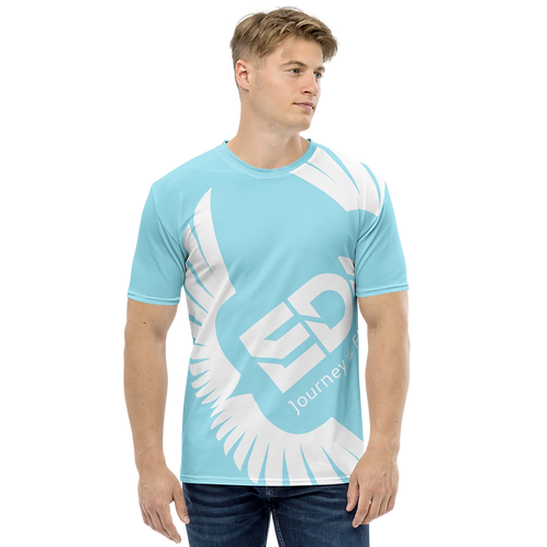 Men's T-shirt Sky Blue - EDM Journey to Freedom Large Print - White
