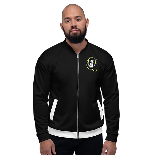 Men's Unisex Fit Bomber Jacket - GS Music Academy - Black / White Detail