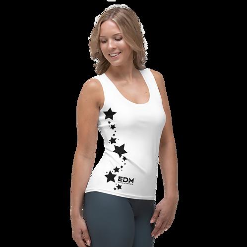 Women's Vest - EDM J to F Black Star - White