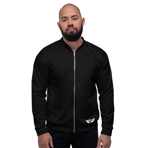 Men's Unisex Fit Bomber Jacket - EDM Journey to Freedom - Black Plain