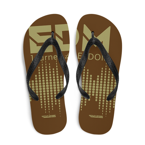 Flip-Flops Brown EDM J to F Sound Bars Print - Gold