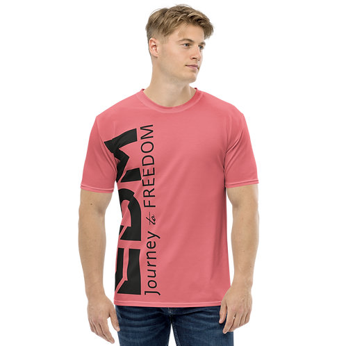 Men's T-shirt Coral - EDM Journey to Freedom Large Print - Black