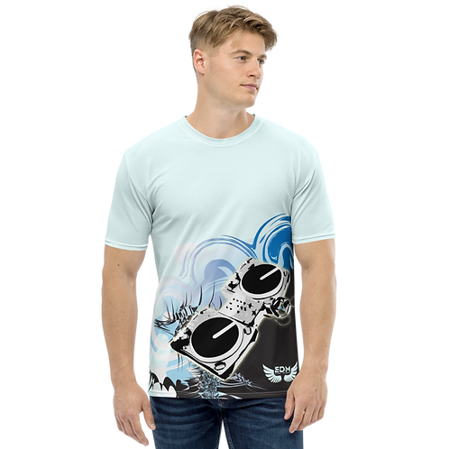 Men's T-shirt - EDM J to F Decks - Ice Blue/Multi