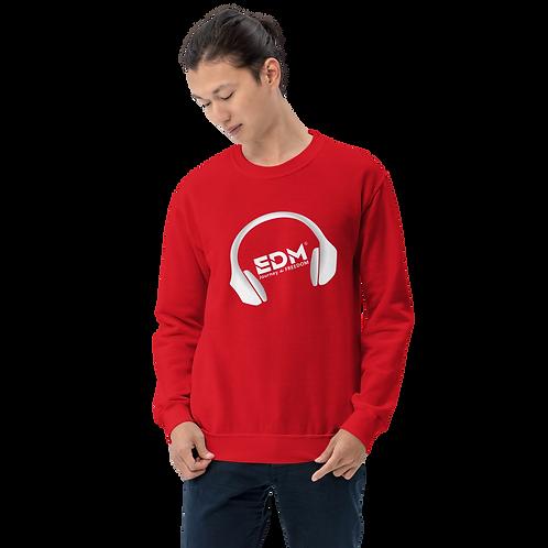 Men's Sweatshirt - EDM J to F DJ Headphones  - White / Various