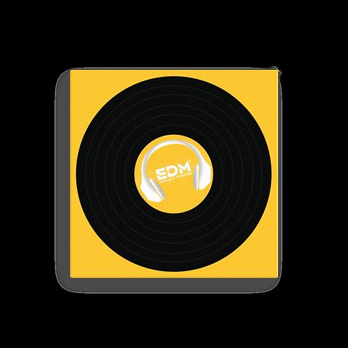 Square Canvas 12x12 / 16x16  - EDM J to F Record - Dark Yellow
