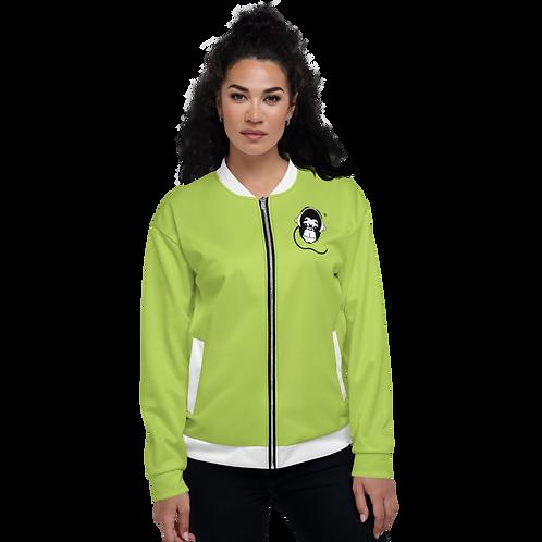 Women's Unisex Fit Bomber Jacket - GS Music Academy - Green / Black Detail