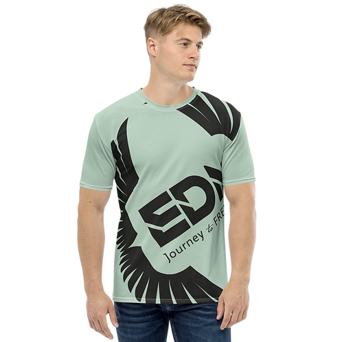 Men's T-shirt Sage - EDM Journey to Freedom Large Print - Black