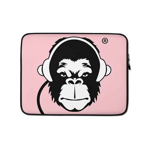 Laptop Case Zip Up - GS Music Academy Ape DJ - Pink