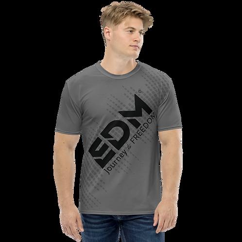 Men's T-shirt - EDM J to F Sound Bars - Black / Charcoal
