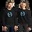 Thumbnail: Men's Sweatshirt - EDM J to F Square Wings Logo - Blue / Various