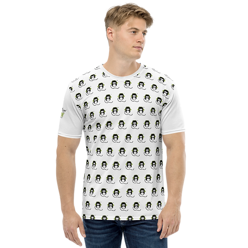 Men's T-shirt - GS Music Academy Ape DJ Pattern - White