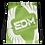 Thumbnail: Light Green Drawstring Bag - EDM Journey to Freedom Large Print - White