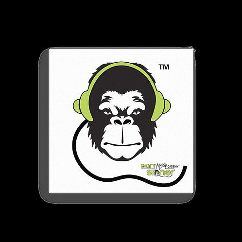 Square Canvas 12x12 / 16x16  - GS Music Academy Ape - White/Green