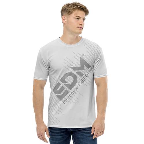 Men's T-shirt - EDM J to F Sound Bars - Grey/Ice Grey