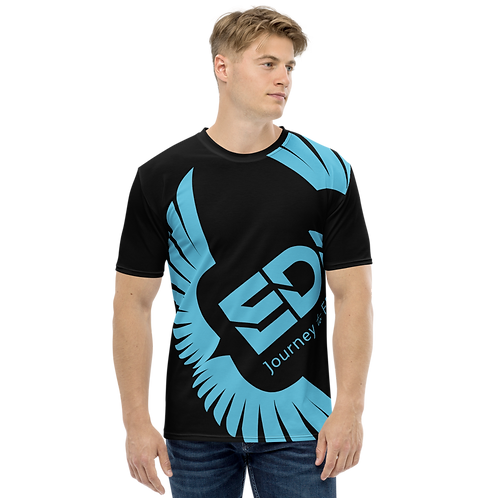 Men's T-shirt Black - EDM Journey to Freedom Large Print - Blue