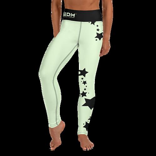 Women's Leggings Black Star - EDM J to F Mint
