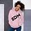 Thumbnail: Women's Unisex Hoodie EDM J to F Black Print - Pink