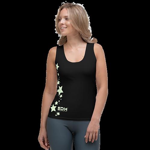 Women's Vest - EDM J to F Mint Star - Black
