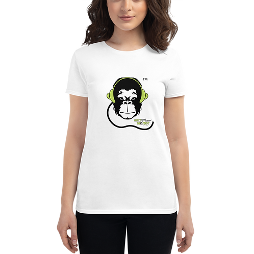 Women's T-shirt - GS Music Academy Ape DJ - White