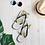Thumbnail: Flip-Flops Ice Grey EDM J to F Sound Bars Print - Gold