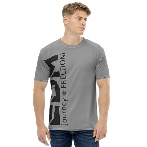 Men's T-shirt Charcoal - EDM Journey to Freedom Large Print - Black
