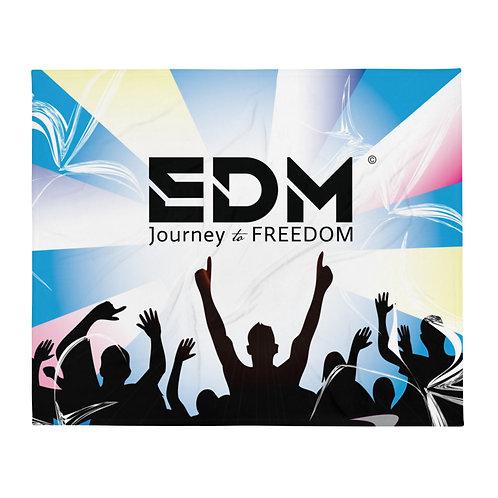 Fleece Throw Blanket - 50 x 60cm - EDM J to F DJ Crowd Design - Multi