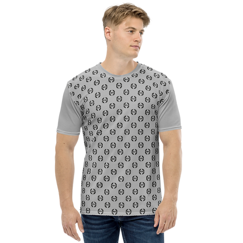 Men's T-shirt Grey - EDM Journey to Freedom Small Pattern Print - Black