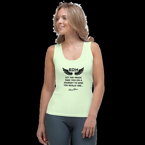 Women's Vest - EDM J to F Slogan Print Black - Mint