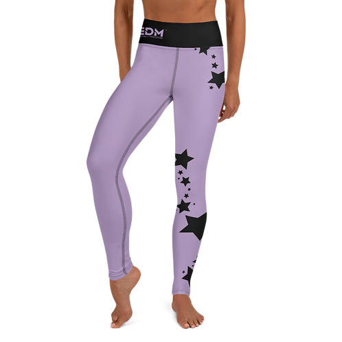 Women's Leggings Black Star - EDM J to F Purple