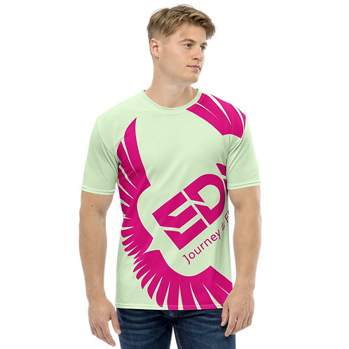 Men's T-shirt Mint - EDM Journey to Freedom Large Print - Hot Pink