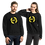 Thumbnail: Womens Sweatshirt - EDM J to F Square Wings Logo - Yellow / Various