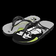 Unisex Flip Flops - GS Music Academy Ape DJ / Text - Grey