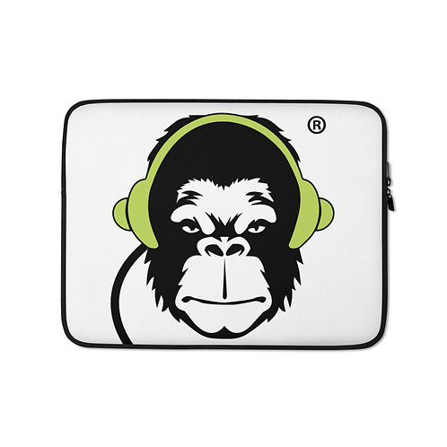 Laptop Case Zip Up - GS Music Academy Ape DJ - White