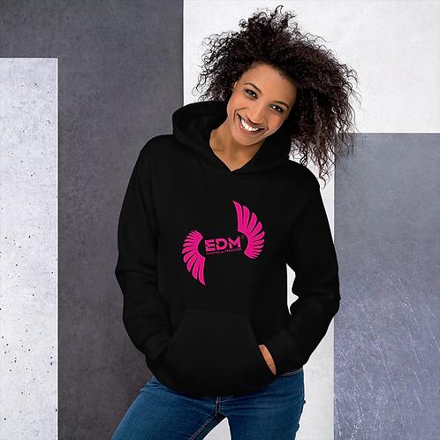 Women's Unisex Hoodie EDM J to F Logo Print Hot Pink - Various