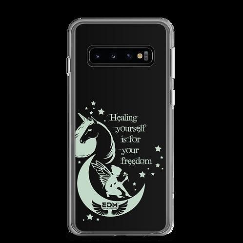 Samsung Phone Case - Unicorn Fairy Sage - Black copy