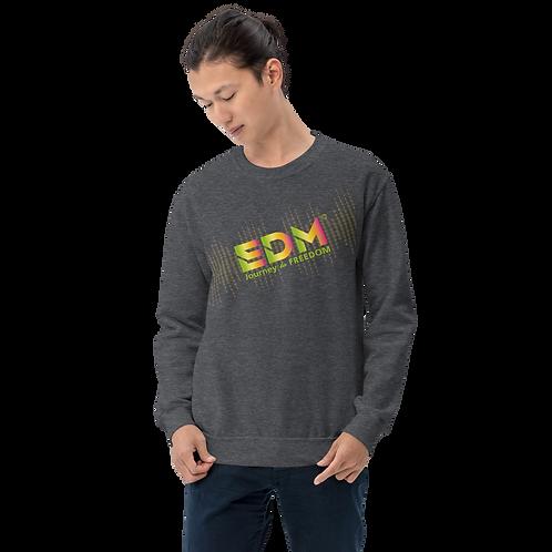 Mens Sweatshirt - EDM J to F Soundbars - Rainbow Multi / Various