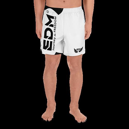 Men's Long Shorts - EDM J to F Black - White