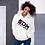 Thumbnail: Women's Unisex Hoodie EDM J to F Text Print Black/Hot Pink - White