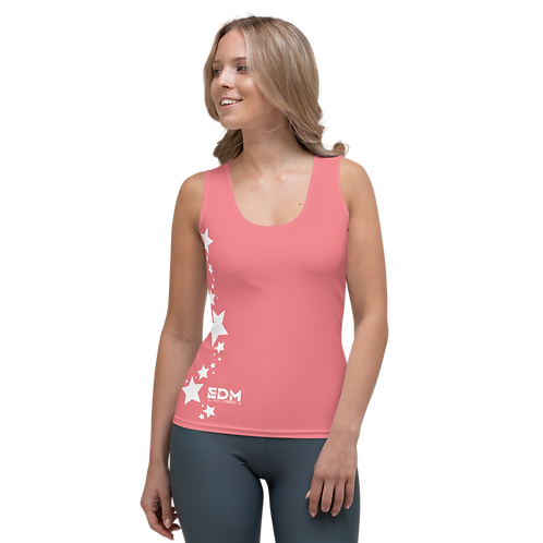 Women's Vest - EDM J to F White Star - Coral