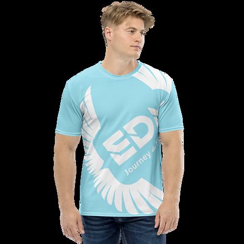 Men's T-shirt Sky Blue - EDM Journey to Freedom Large Print - White