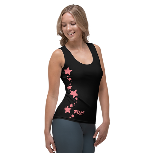 Women's Vest - EDM J to F Coral Star - Black