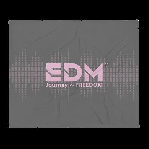 Fleece Throw Blanket - 50 x 60cm - EDM J to F Sound bars - Charcoal / Pink