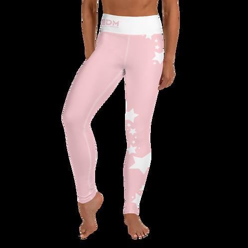 Women's Leggings White Star - EDM J to F Baby Pink