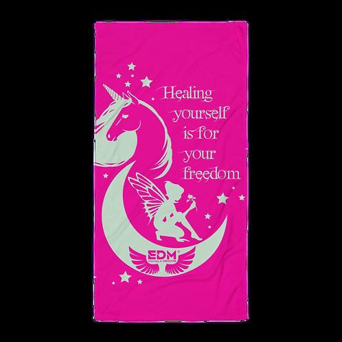 Beach Towel / Towel - Unicorn Fairy Sage - Pink