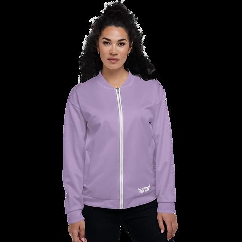 Women's Unisex Fit Bomber Jacket - EDM Journey to Freedom - Purple Plain