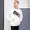 Thumbnail: Mens Unisex Hoodie EDM J to F Logo Black/Hot Pink - White
