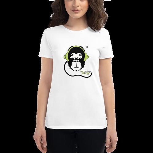 Women's T-shirt - GS Music Academy Ape DJ - White