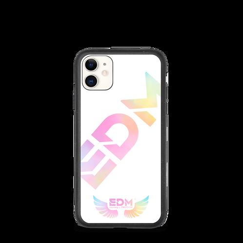 Biodegradable iphone case - EDM J to F Tye Dye Pastels Logo - White
